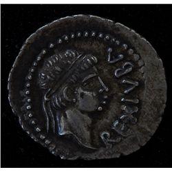 Juba II & Cleopatra Selene (25 BC-23 AD) - AR-Denarius Obv:Diad. hd. r. REX  IVBA  Rev: Large star w