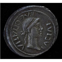 Juba II & Cleopatra Selene (25 BC-23 AD) - AR-Denarius Obv: diad. hd.r. REX IVBA  Rev: Diad.hd. of C