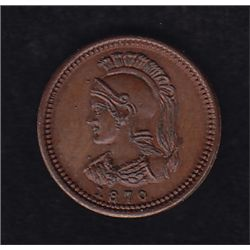 Anticosti  - Attributed to Anticosti Island by most numismatists but there is no proof it was used t