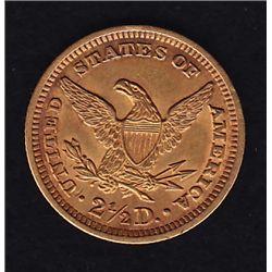 1906 US $2½ Gold - AU, AGW .1234.