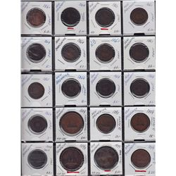 Lot of 23 New Brunswick Coins & Tokens  - Nice presentable lot in varying conditions, we recommend v