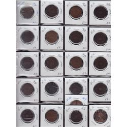 Large lot of Newfoundland Cents - We recommend viewing this lot, no return. 161 Pcs.