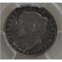 1865 Newfoundland Ten Cent  - PCGS VF35.