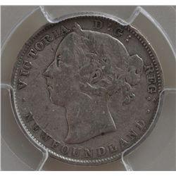 1899 Newfoundland Twenty Cent - PCGS VF30, hooked 99's.
