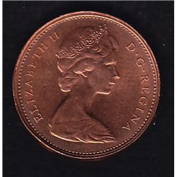 One Cent Error - Found in a mint bag from 1978, thick planchet with a faint effigy of the Queen on o