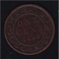 1858 One Cent - VG.