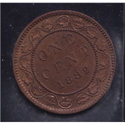 1882H One Cent - ICCS MS-64, Obverse 2, Red.
