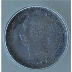 1884 Five Cent - ICG VF35.