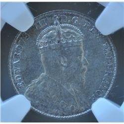 1904 Ten Cent  - NGC AU55.
