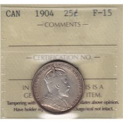 1904 Twenty Five Cent - ICCS F-15.