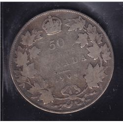 1904 Fifty Cent  -  ICCS VG-8, key date.