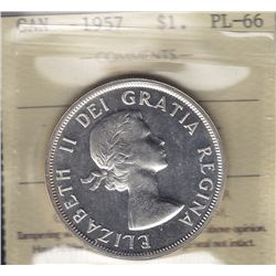 1957 Silver Dollar - ICCS PL-66.