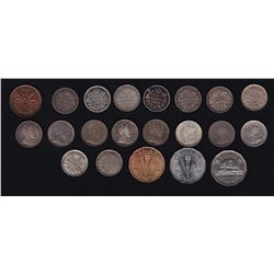 Canadian Decimal Lot  - Includes: 1943 One Cent, 1870 (2), 1880H, 1886, 1899, 1902H, 1907, 1908, 190