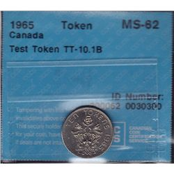 1965 Ten Cent Test Token - CH TT-10.1B, CCCS MS-62.