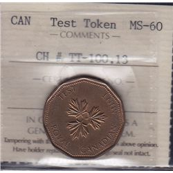 One Dollar Test Token - CH TT-100.13 ICCS MS-60.