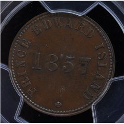 CH PE-7C3 - BR 919, 1857 Self Government and Free Trade PEI Token, PCGS MS62 BN. Ex:Temple.