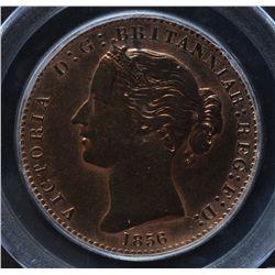 CH NS-6A2 - BR 875, 1856 Nova Scotia One Penny Token, PCGS UNC details. Ex:Temple.