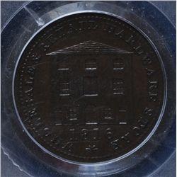 CH NS-15B - BR 893, 1815 Nova Scotia Half Penny Token, PCGS AU Details. Ex:Temple.