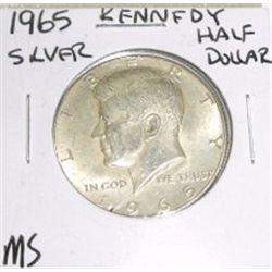 1965 Kennedy SILVER Half Dollar *MS HIG GRADE - NICE COIN*!!