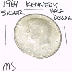1964-D Kennedy SILVER Half Dollar *RARE MS HIGH GRADE - NICE COIN*!!