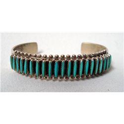 Zuni Sterling Needlepoint Bracelet - B. Waatsa