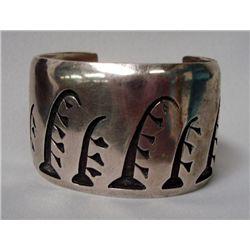 Hopi Sterling Overlay Cuff Bracelet