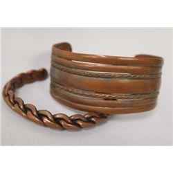 Vintage Navajo Copper Bracelets