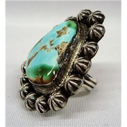 Navajo Turquoise Sterling Ring - Jesse Martinez