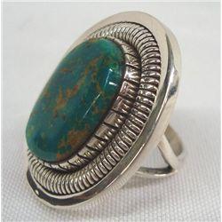 Navajo Sterling Turquoise Ring - Walter Vandever