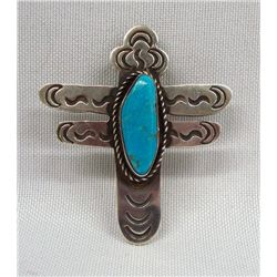 Navajo Sterling Turquoise Dragonfly Pin/Pendant
