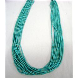 Navajo Turquoise Heishi 15 Strand Necklace