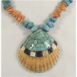 Santo Domingo Turquoise Shell Necklace