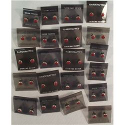50+ Navajo Silver Coral Post Earrings