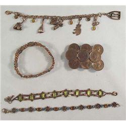 5 Copper Jewelry Pieces