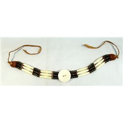 Indian Style Choker Necklace Bone Copper Beads