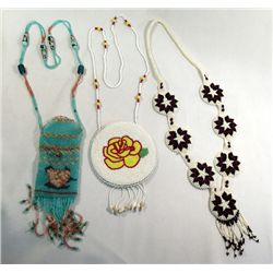 3 Hand Beaded Necklaces