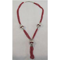 Navajo 4 Strand Hand Beaded Necklace