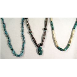 Three Native American Style Necklaces