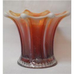 Fenton Pulled Loop Squat Vase, Boggy Bajou 4 3/4''