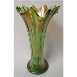 Dugan Pulled Loop Vase - Green Iridescence