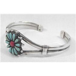 Zuni Turquoise Coral Bracelet