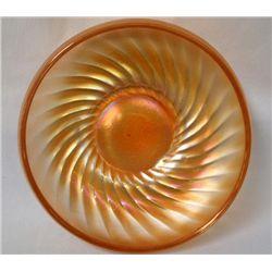 Fenton Carnival Glass ''Swirl'' Marigold Dish