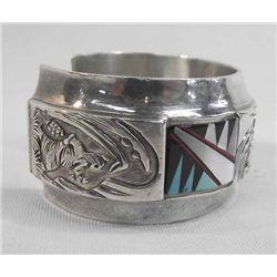 Sterling Kachina Bracelet Hallmark TJ