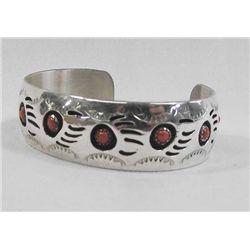 Navajo Sterling Bear Claw Bracelet - P Spencer