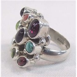 Sterling Multi Color Stone Ring - Nakai
