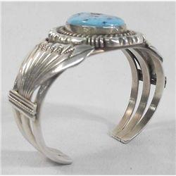 Navajo Silver Turquoise Bracelet-Emerson Delgarito