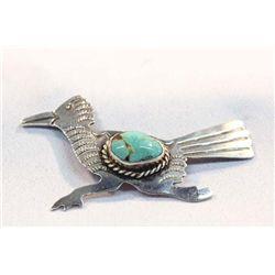 Navajo Turquoise Pin/Pendant-Albert Cleveland