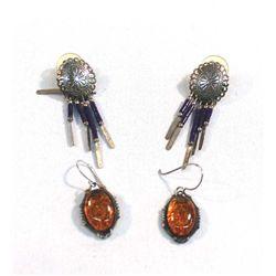 Two Pair of Pierced Earrings