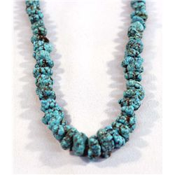 Navajo Graduated Turquoise Nugget Necklace
