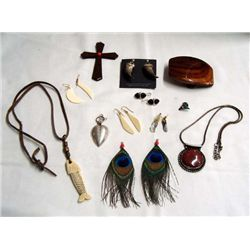 Assortment of Earrings, Necklaces, Pendants